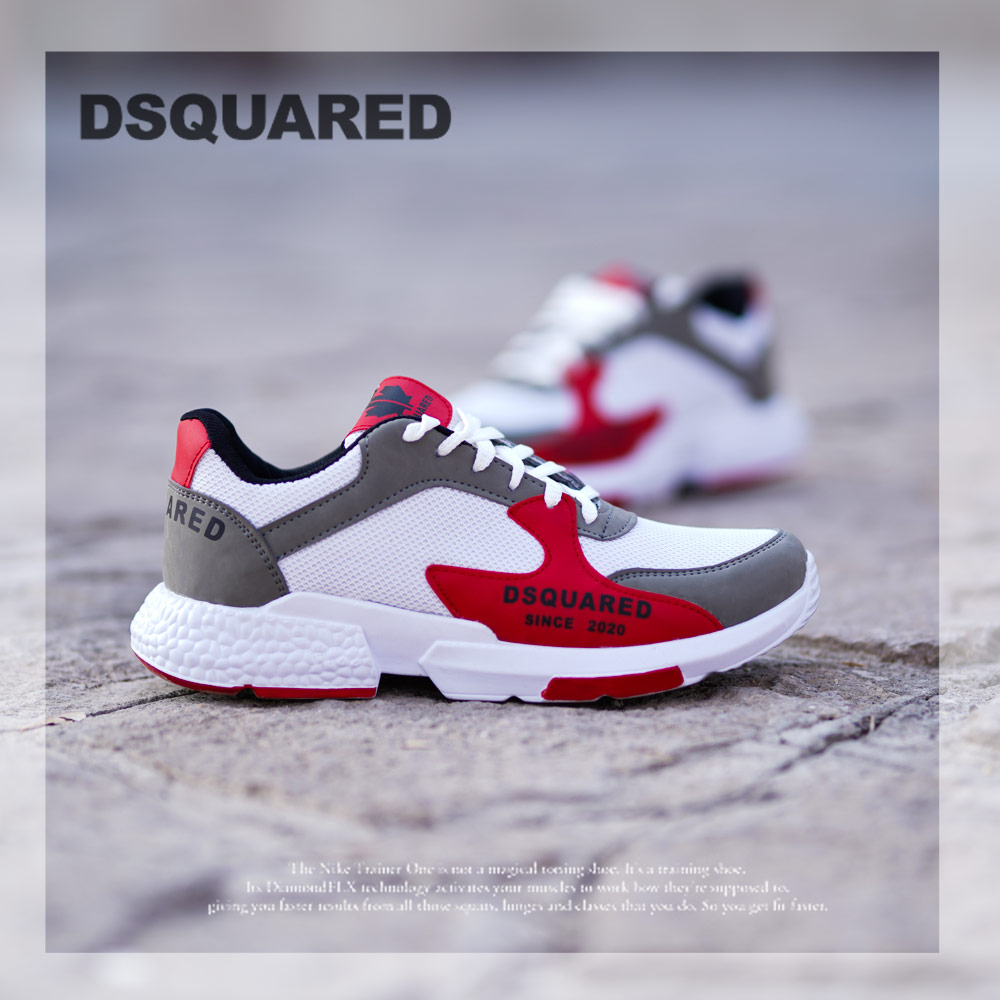 کفش مردانه مدل DSQ(سفید قرمز)