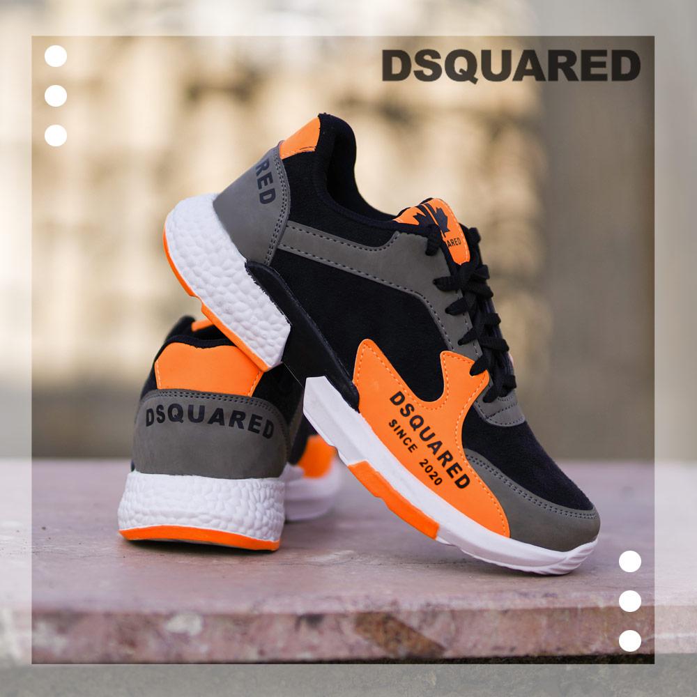 کفش مردانه مدل DSQ(مشکی نارنجی) DSQUARED Shoes
