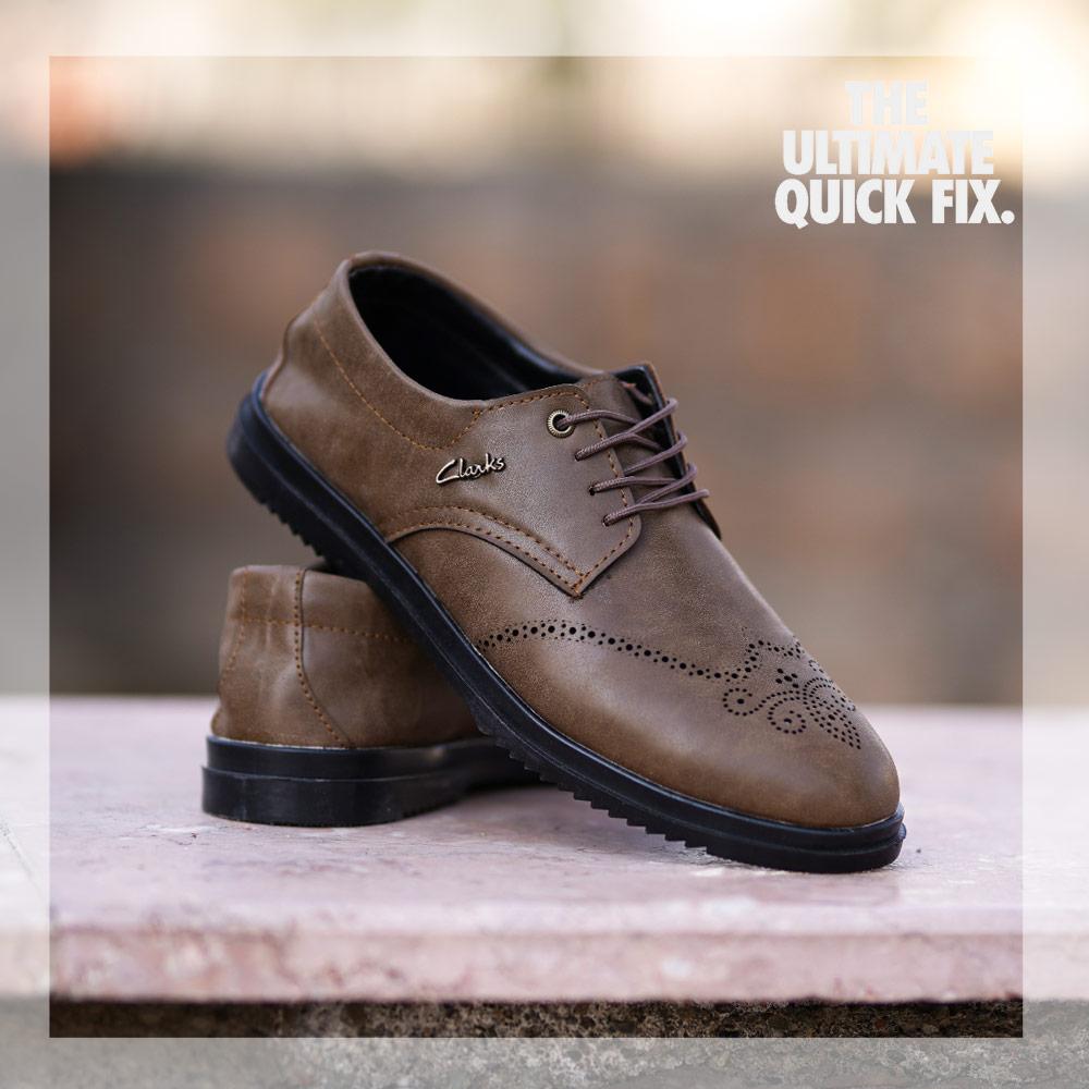 کفش مردانه مجلسی  janet ( زیتونی )
