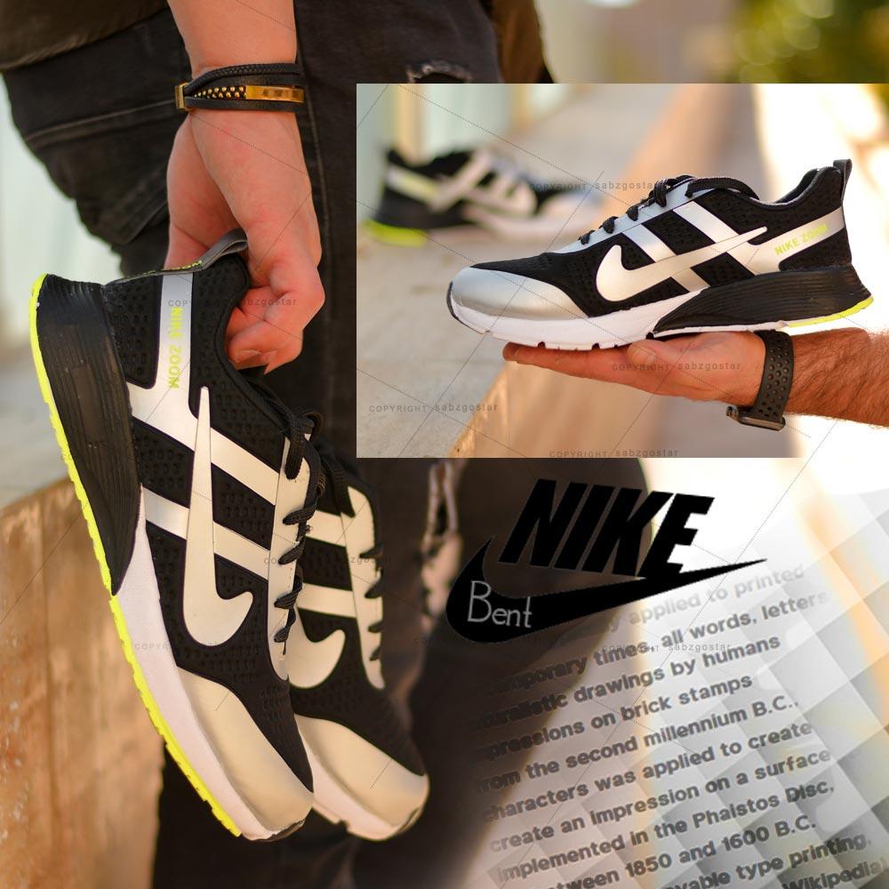 کفش مردانه Nikeمدل Bent (مشکی طوسی)
