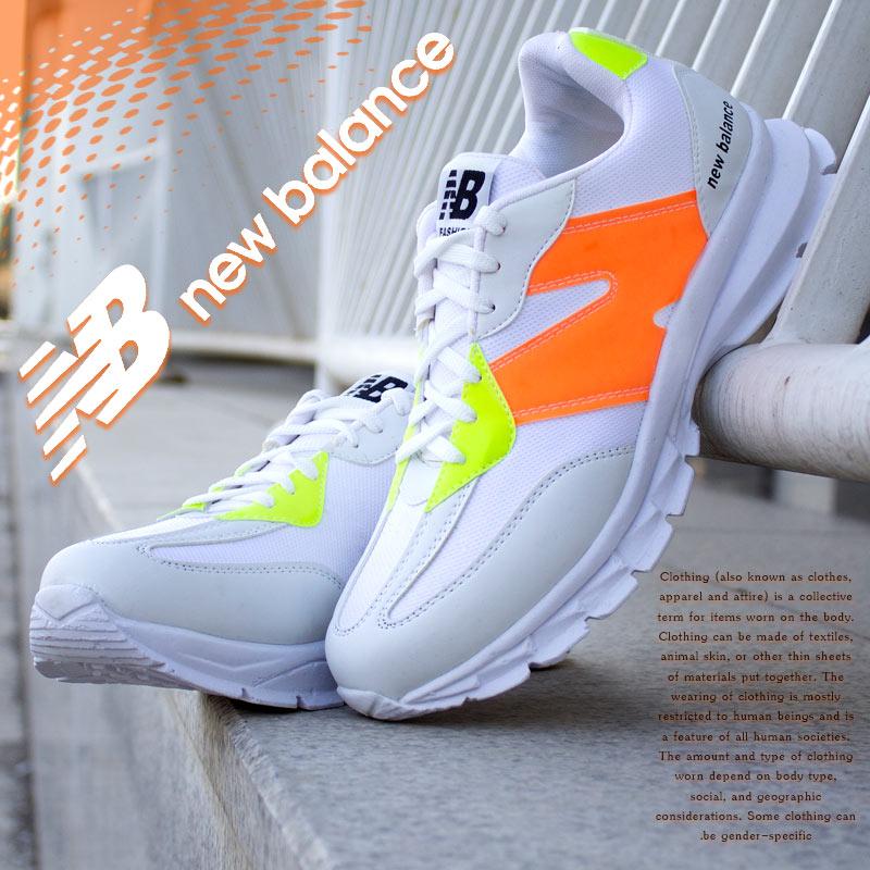 عکس محصول کفش مردانه New balanceمدل Pert(سفید نارنجی)