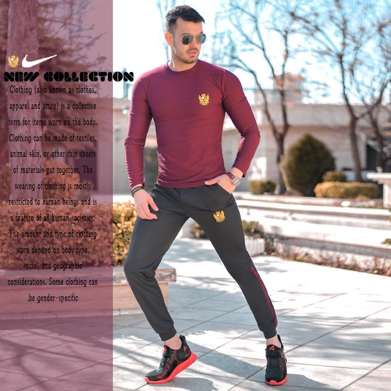 عکس محصول ست بلوز و شلوار Nike مدل Destiny(زرشکی)