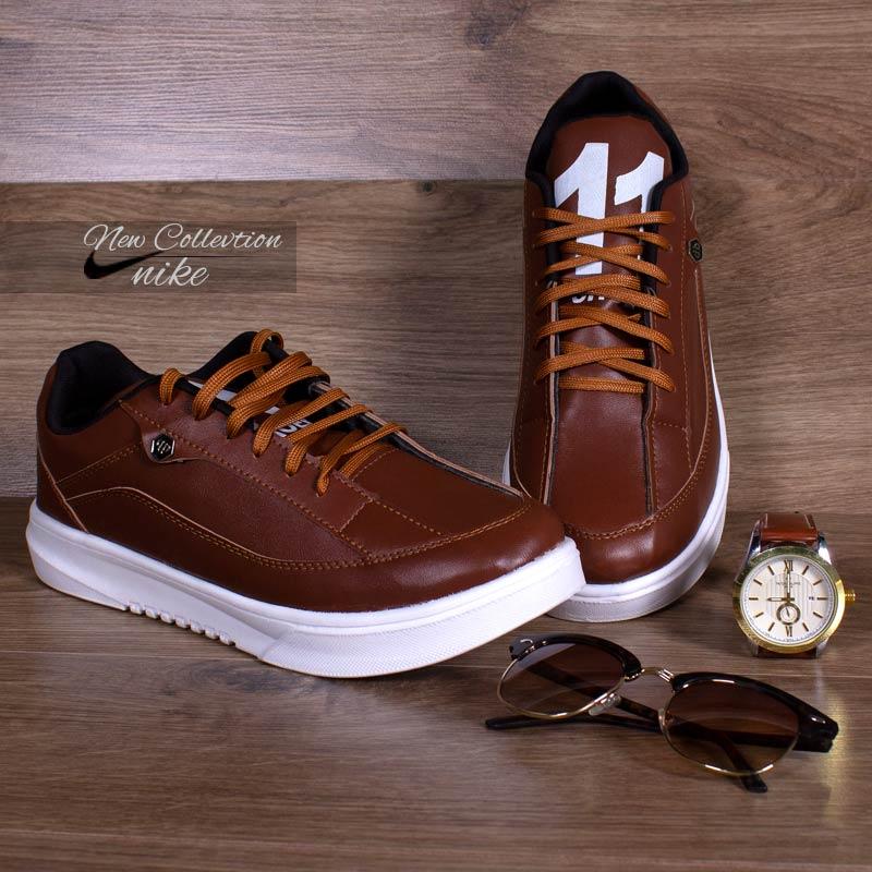 عکس محصول کفش مردانه Nikeمدل eleven(قهوه ای) با تخفیف