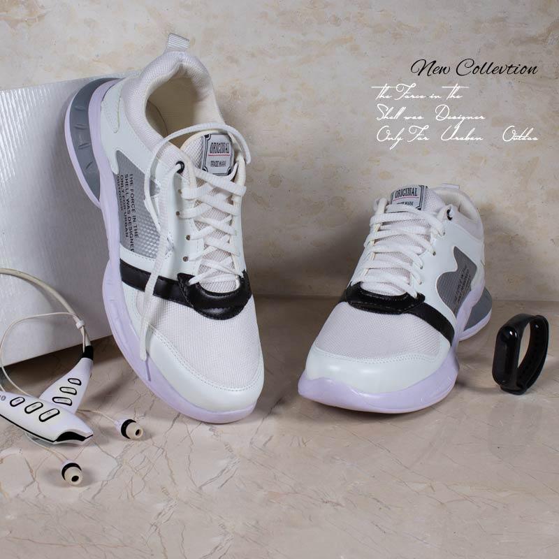 کفش مردانه Rise ( سفید نقره ای )