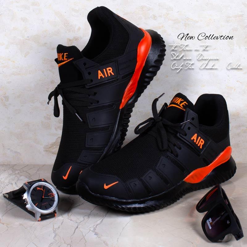 عکس محصول کفش مردانه Nike مدل Air2021(مشکی نارنجی) با تخفیف