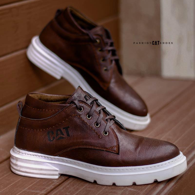 کفش ساقدار مردانه CatمدلHope(قهوه ای)