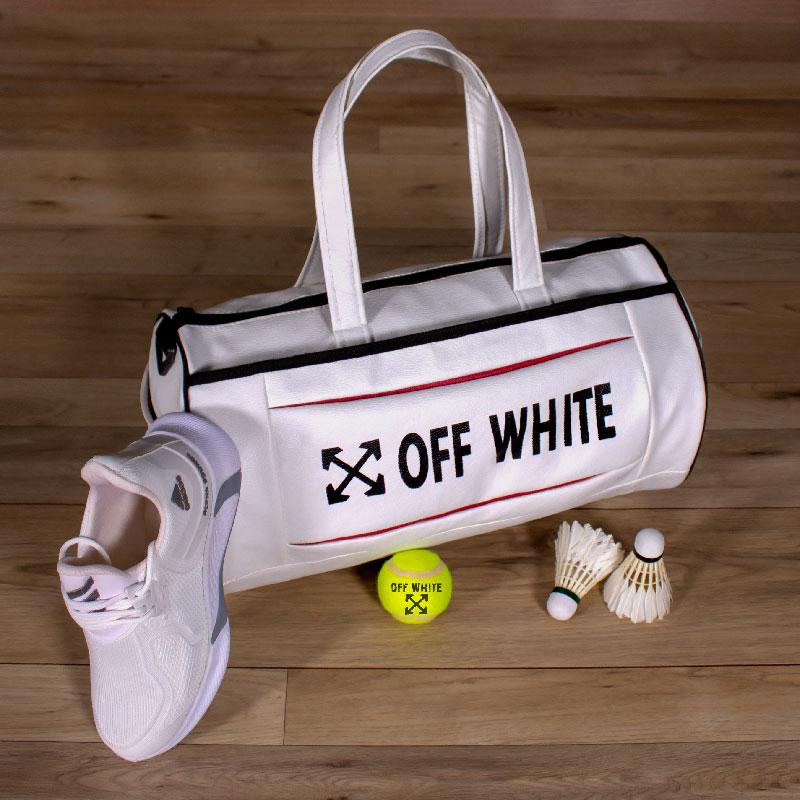ساک ورزشی off white(سفید)