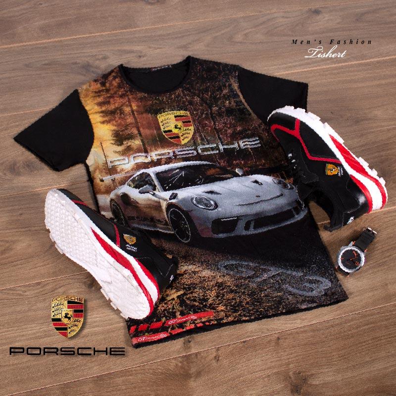تیشرت مردانه مدل Porsche Gt3