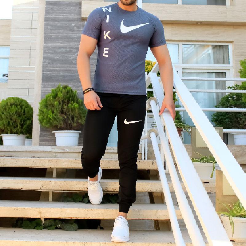 ست تیشرت شلوار Nike مدل Giant (سربی)