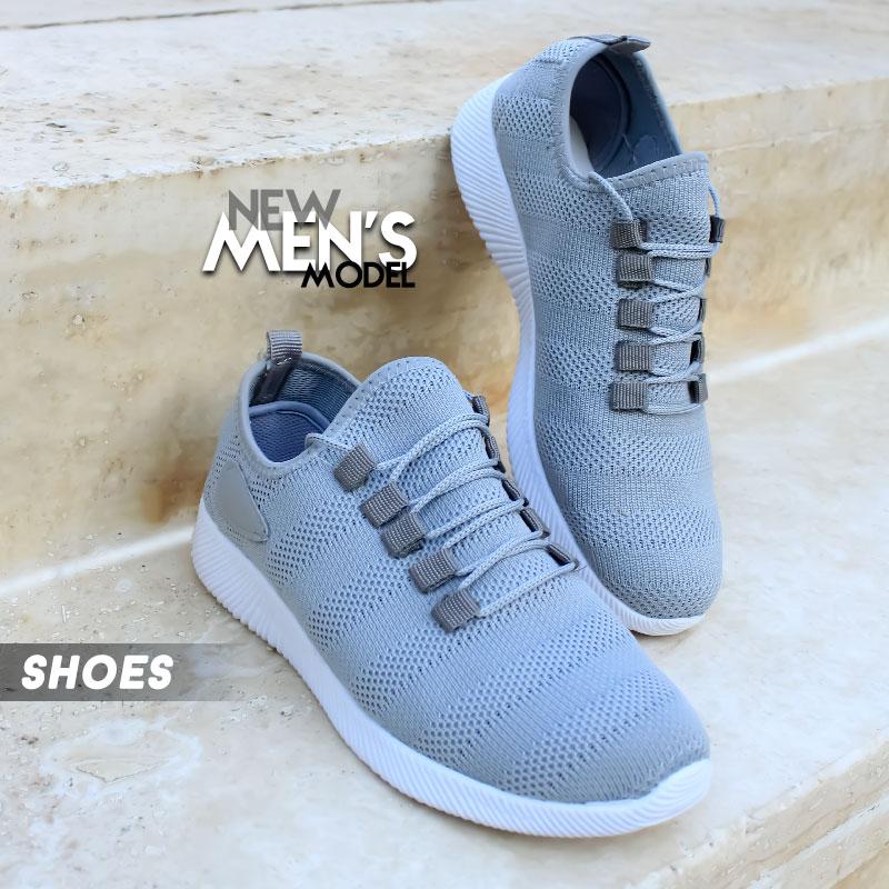 کفش مردانه Gucciمدل Gana(طوسی سفید)