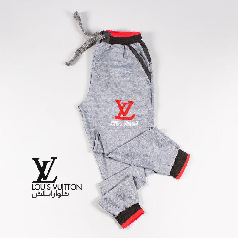 تخفیفانه شلوار اسلش مردانه مدل LV,LV Men's Slash Pants,شلوار اسلش پسرانه مدل ال وی رنگ طوسی,خرید پستی شلوار اسلش مردانه مدل LV,
