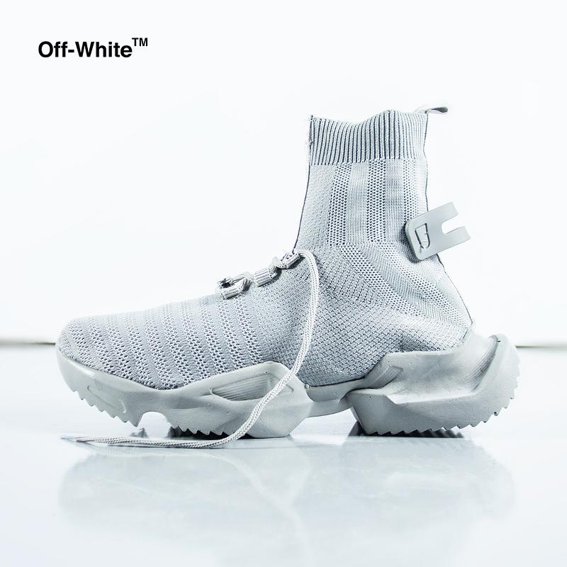 تخفیفانه کفش ساقدار Off white مدل socuring(طوسی),Off white socuring shoes (gray),کفش ساقدار پسرانه آف وایت مدل سوکرینگ رنگ طوسی,خرید پستی کفش ساقدار Off white مدل socuring(طوسی),